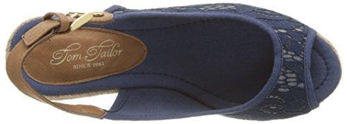 Tom Tailor 9690908, Sandales femme Bleu (Marine)