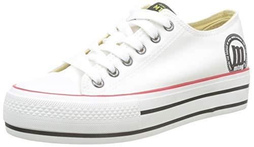 MTNG Attitude 69423, Zapatillas Mujer, Canvas Blanco