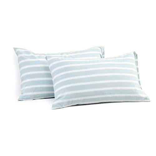 Miu Hin Kissenbezüge, 100% Gewaschene Baumwolle, modernes Design, mit Umschlagverschluss, 2 Stück Japanisch Standard (20