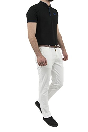 Scotch & Soda Classic Garment Dyed Chino Pant In Stretch Cotton Quality, Pantalon Homme Blanc