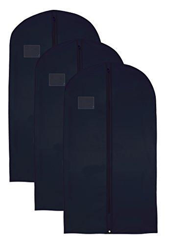 """Lujo hombres del traje de funda impermeable bolsas 24""""x 54"""" negro (3unidades)"""