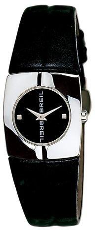 Breil 2519280681 - Reloj con correa de piel y tela para mujer, color negro / gris