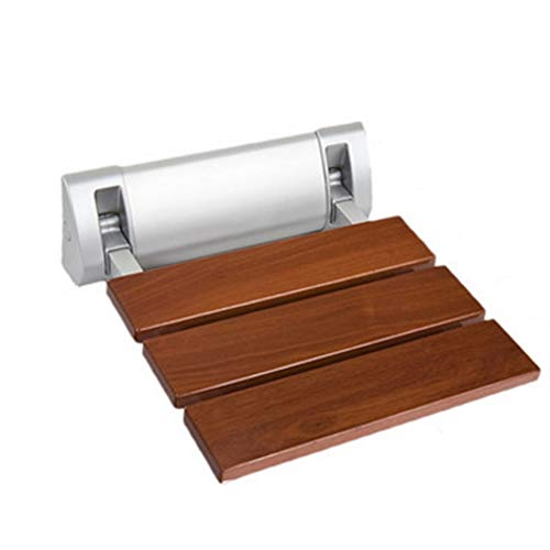 NYDZDM Wand-faltender Schemel-Badezimmer-Duschehocker-Änderungs-Schuh-Bank-festes Holz-Rutschfester Faltbarer Stabiler Sicherheits-dauerhafter Bad-Stuhl, 32x32.8cm