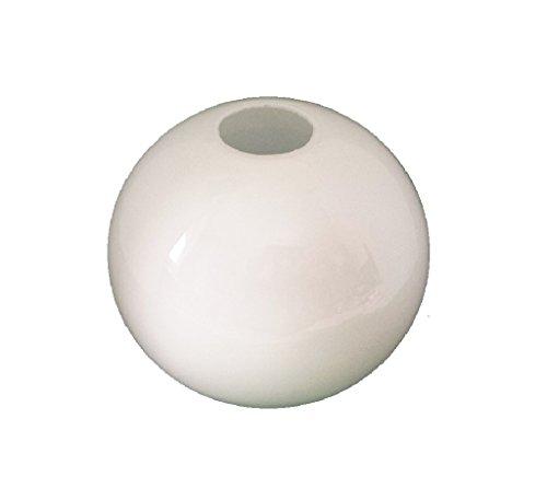 15.0cm diamètre Verre Blanc Sphériques Abat-jour Suspendu. Circonférence: 47cm, Petit trou (haut): 3.1cm dia., Grand trou: 9cm dia. [éclairage lumière ballon rond sphère remplacement lustre globe]