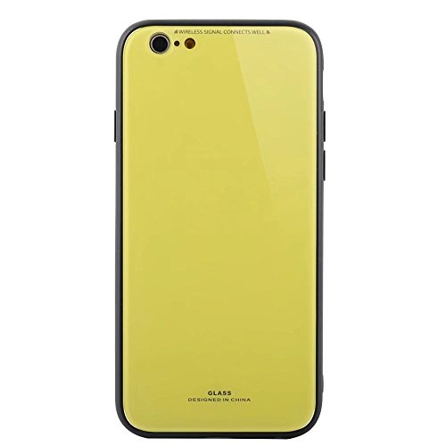 iPhone 6/6S Plus hülle Silikon rot Glas zurück handyhulle DECHYI für iPhone 6/6S Plus- rot (Style Kleid Safari)