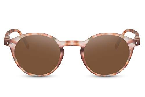 d38c07161a Cheapass Redondas Gafas de Sol con Marrones Estampado Camuflaje Hombre  Mujer UV400