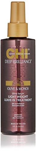 CHI Deep Brilliance Olive & Monoi Shine Serum Light Weight Leave-In Treatment 178ml