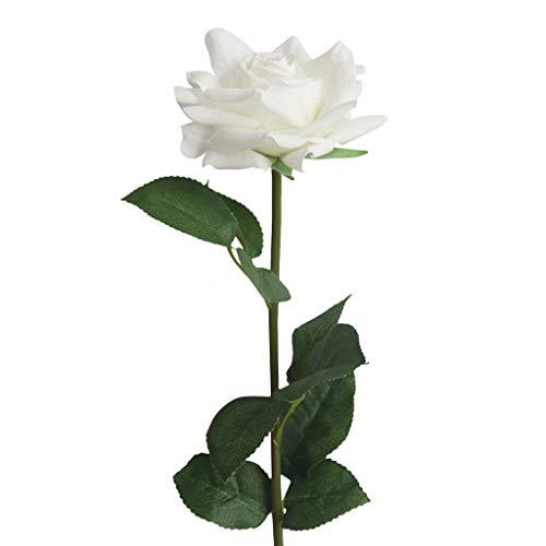 Hunpta@ Künstliche Hortensie Seide Flanell Rose Blumen für Hochzeitsfest Home Design Bouquet Decor kunstblumen Rosen (Weiß)