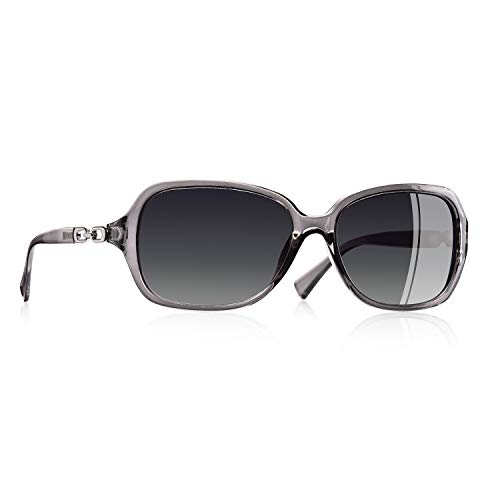 AOFLY Rechteckig Mode Polarisierte Sonnenbrille Damen Gradienten linse