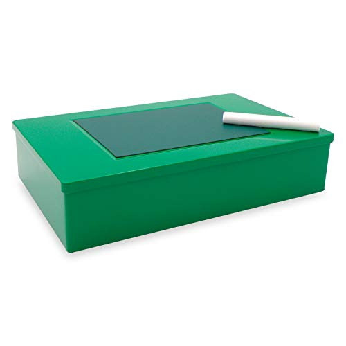 Aufbewahrungsboxen - Geschenkverpackung Metall - Box grün mit Magnettafeln