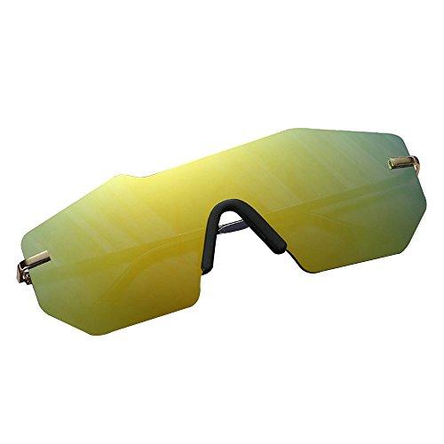 Douerye Personalisierte Sonnenbrille, Metall Stück Brille Großhandel, Polygon Herren und Damen Sonnenbrille Sonnenbrille,Green