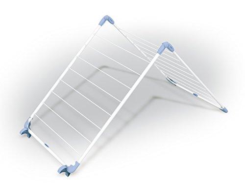 Gimi Alablock Wäschetrockner für die Badewanne aus Stahl, 10 m Trockenlänge