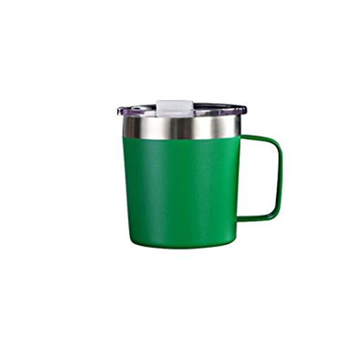 ZSL8 Thermoskanne Doppelwandiger Vakuum-Edelstahl für Herren und Damen ohne BPA-Kälteschutz-Thermoskanne Office Travel, tragbare, auslaufsichere Isolierschalen, 350 ml / 12 oz,Green -