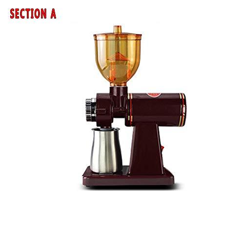 GKFG Kaffeemühlen Elektrische Propellermühlen Bohnenmühle Antistatikeinrichtung Scheibenmühlen Elektrische Kaffeemühle Kegelmahlwerk 1 Bis 10 Tassen ABS-Material 200 V,A
