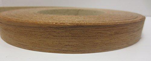 Impiallacciatura bordo grezzo 0,5mm rivestito in tessuto non tessuto di fusione con adesivo 5m X 23mm in legno di teak