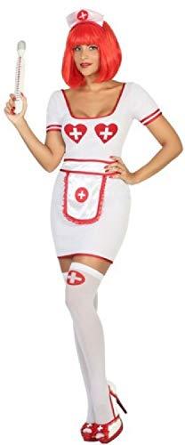 Fancy Me Damen Krankenschwestern-Uniform Beruf Ärzte Krankenschwestern Karneval Junggesellinnenabschied Rollenspiel-Kostüm Outfit UK 8-18