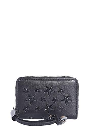 Jimmy Choo Luxury Fashion Donna NELLIEENLBLACKBLACK Nero Portafoglio | Primavera Estate 19