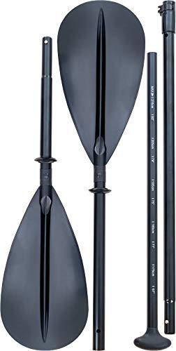 F2 4 Piece Basic Paddle I 4-teilig I SUP und Kayak I Runder Schaft I max. 215 cm Bamboo Paddle Board