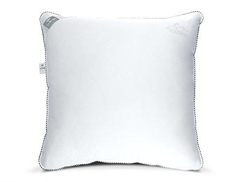 sei Design Swan DE Luxe Kopfkissen gefüllt mit 100% Mikrofaser, 80x80