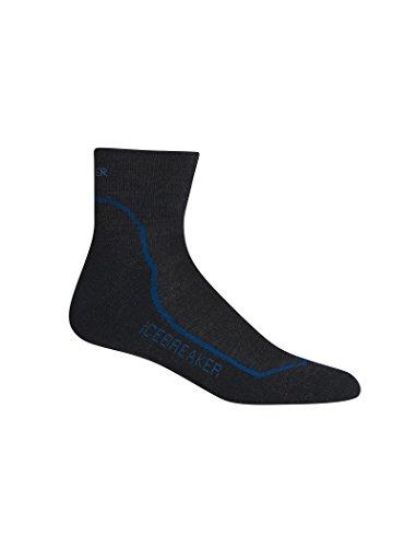 Icebreaker Herren Wandersocken Hike Plus Light Mini Socke, Jet Hthr/Cadet/Black, M