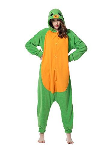 Kigurumi Pyjamas Schildkröte Cosplay Unisex Tierschlafanzug Halloween Weihnachten Karnevals Geburtstags Party (XL)