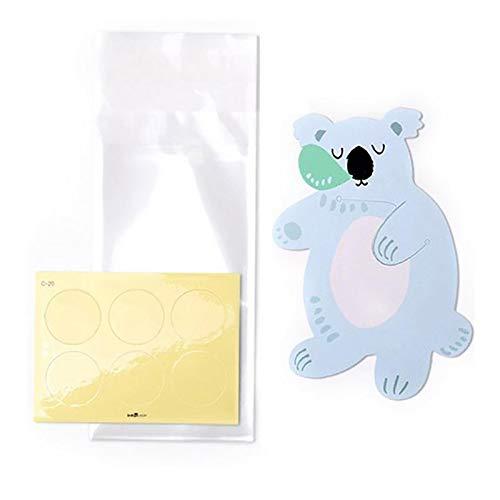 SODIAL 10 Stücke Niedlichen Tier Sü?igkeiten Tasche Gru? Karte Keks Geschenk Tasche Baby Dusche Geburtstag Party Dekoration (Koala)
