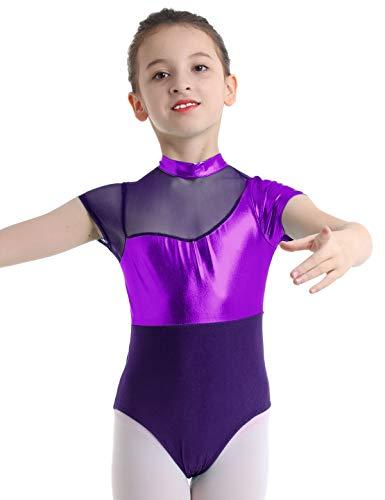 YiZYiF Maillot de Gimnasia Rítmica para Niñas Maillots Brillante Danza Leotardo Bodys...