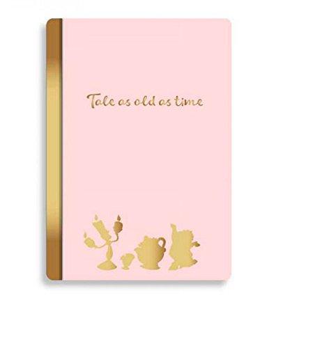 Quaderno La Bella e la Bestia (Beauty and the Beast) A5 Notebook Floral Pink