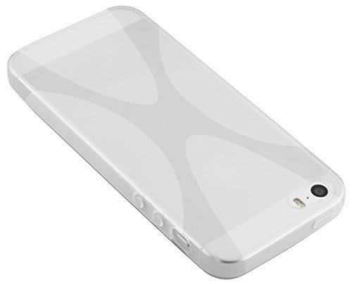 mumbi TPU Silikon Schutzhülle für iPhone SE 5S 5 Hülle in schwarz transparent weiß X