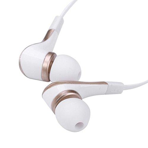 Suppression du bruit écouteurs intra-auriculaires sport Doré avec écouteurs écouteurs Mains libres écouteurs intra-auriculaires 3,5mm W/appel mains libres Mic. Compatible avec