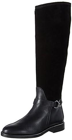 Marc O'Polo Flat Heel Long Boot 70814228002311, Bottes Cavalieres Femme, Schwarz (Black), 42 EU