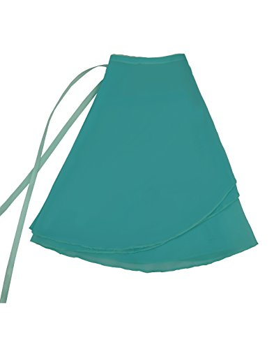 NawtyFox Turquoise Child Sheer Chiffon Wrap Skirt (Türkis Skirt Wrap)
