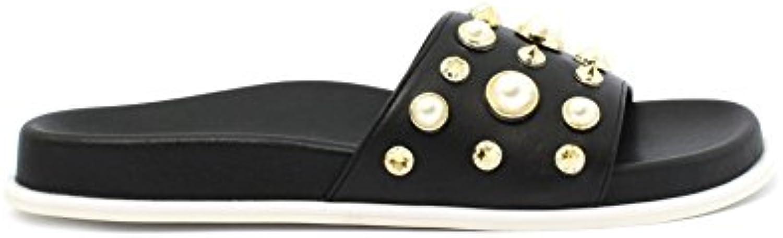 People Slipper Minerva Black PU wo's Sandal