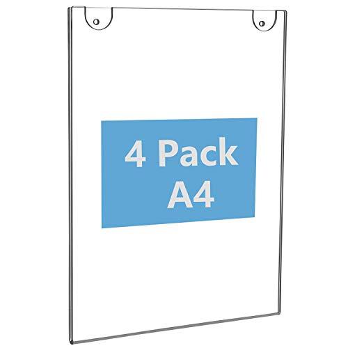 Soporte letreros montaje pared acrílico 4 paquetes