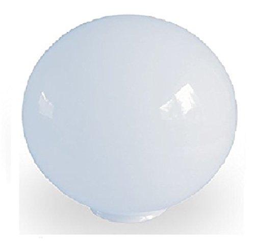 20.0cm Durchmesser Weiß Glas  Ersatz Kugel Lampenschirme. Kreisumfang: 63cm,  Hals (Außenbreite): 7.6cm Durchmesser,  Loch: 6.7cm Durchmesser.