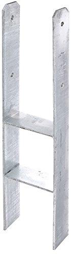 GAH-Alberts 208455 H-Pfostenträger, feuerverzinkt, Gesamthöhe: 800 mm, Materialstärke: 8 mm, lichte Breite: 161 mm