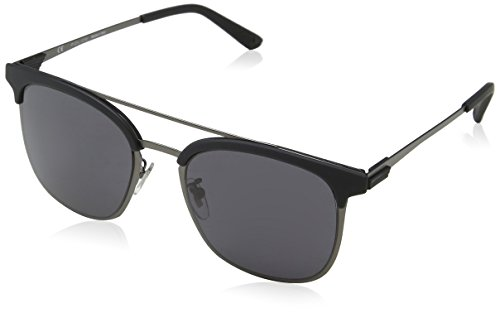 Police Herren Crossover 1 Sonnenbrille, Grau (Matt Gunmetal), 54