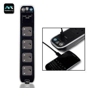 masterplug-surge-protected-4-plug-power-bar-with-dual-usb-black