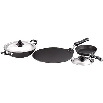 Buy Hawkins Futura Non Stick Cookware 7 Pieces Black