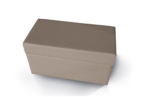 Pouf contenitore in tessuto o ecopelle cm H44 L80 P40 - Vari Colori
