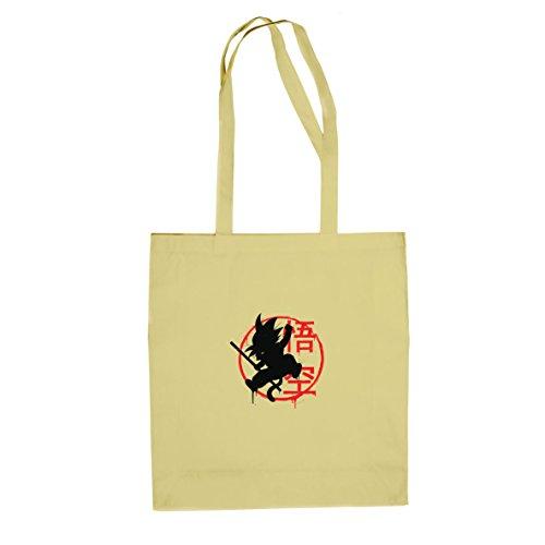DBZ: Little Goku - Stofftasche / Beutel, Farbe: natur (Dbz Bulma Kostüm)