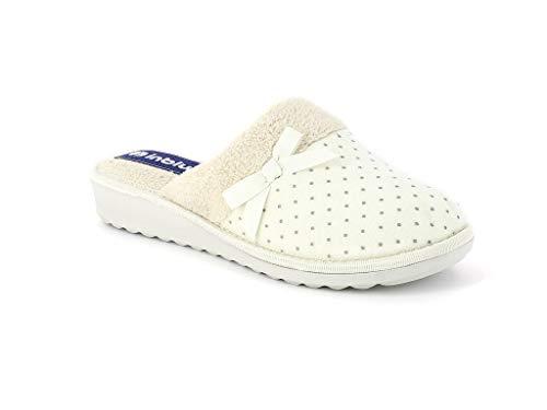 Inblu ci 72 pantofole donna soft con fiocchetto ghiaccio