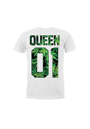 Magic Custom King & Queen - T-Shirt Queen 01 - Weed Queen Blanc