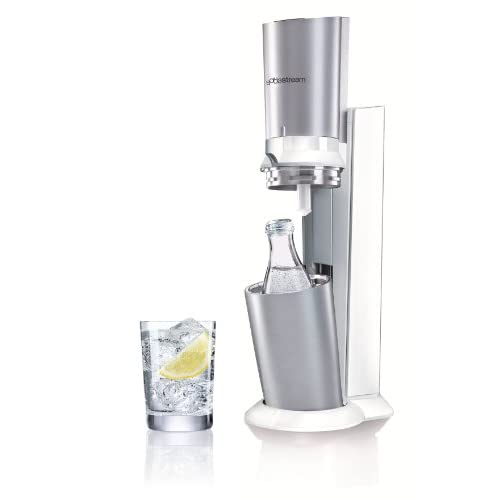 31aVjuzqOXL. SS500  - sodastream water whirlpool Crystal (with 1 x CO2 cylinder 60L and 1 x 0,6L glass carafe), premium white, Plastic, White, EU 20