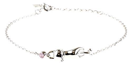 Sterling Silber Armband für Damen 925 by Origin Katze Motiv hinreißend Valentins JAHRESTAG GESCHENK (Sterling Silber Katze Armband)