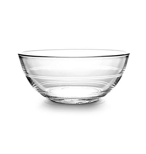 HHXWU Bol de Riz Vaisselle à la Maison Bol à Salade Bol à Nouilles Bol en Verre trempé Transparent 1, 500ML
