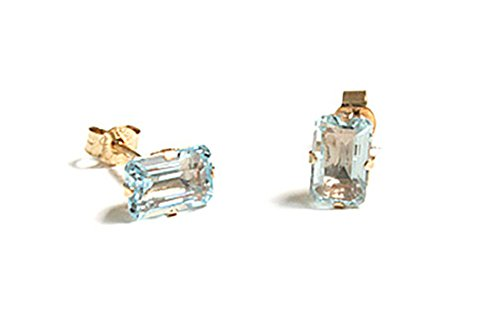 9ct-gold-emerald-cut-blue-topaz-stud-earrings