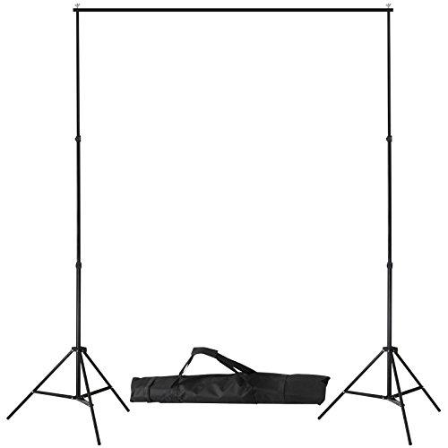 fotostudio hintergrundstoff Hintergrundsystem für Hintergrundstoff Fotostudio Hintergrundständer Teleskop Fotoständer ca. 290/56/230 cm höhenverstellbar und breitenverstellbar mit Tragetasche