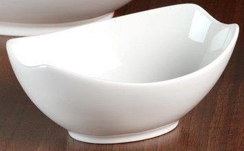 Lot de 3 petits bols ovales - porcelaine blanche - Alba