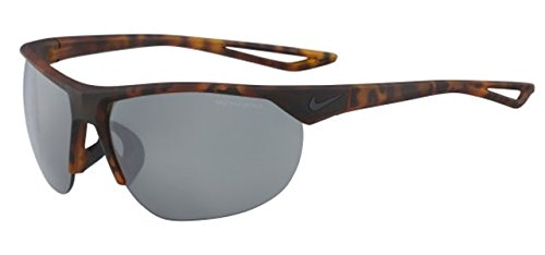 Nike EV0937-200 Cross Trainer Sunglasses (Frame Grey with Silver Flash Lens), Matte Tortoise image